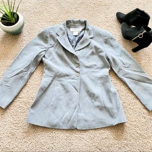 vtg Larry Levine Gray Suit Jacket & Skirt Sz 6P